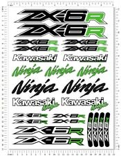 Kawasaki Ninja Racing ZX-6R Motorcycle Decals Fairing ZX6R Laminated Stickers