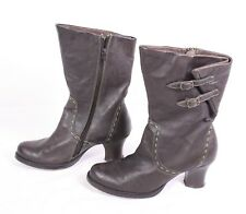 14S Young Spirit Damen Stiefel Slouch Boots Gr. 38 Leder braun wadenhoch