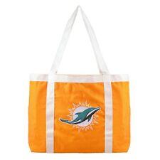 Miami Dolphins Tailgate Canvas Tote Shoulder Bag Purse NFL