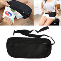 New Slim Travel Pouch Hidden Compact Security Money Passport ID Waist Holder Bag