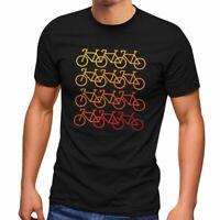 Herren T-Shirt Fahrrad-Motiv Geschenk für Radfahrer Bike Fun-Shirt Spruch