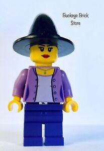 NEW Lego Female Witch Medium Lavender Jacket, Necklace, Purple Legs Witch Hat