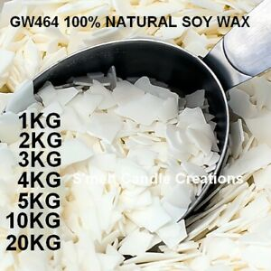 GW464 Professional Grade 100% Natural Soy Wax  Candle Making Supplies Crafts