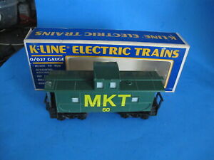 K-Line Lighted Illuminated MKT 60 Caboose in Box O-Scale