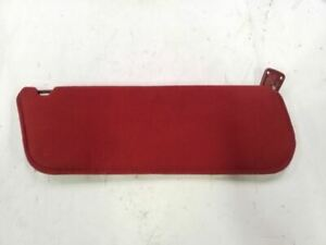 Right Passenger Red Cloth Sunvisor Fit 87 88 89 90 91 Ford F150 F250 F350 Bronco