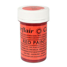 Sugarflair Red Edible Paint Cake Icing Matt Colour for Sugarpaste Decorating