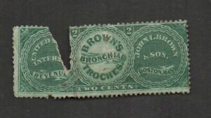 US #RS40b, John I. Brown & Son private die proprietary stamp.