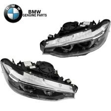 For BMW F32 F33 F36 F80 F82 Pair Set of 2 Headlights Assy Bi-Xenon Adaptive OES