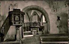 KÖNIGSFELD Schwarzwald ~1950/60 Postkarte Inneres der 1000 j. Nikolaus-Kirche