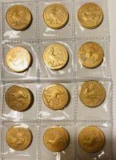20 Francs Marianne Coq 12 Pieces Reproduction Plaqué Or Semeuse Hercule