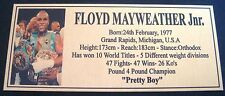 """FLOYD MAYWEATHER JUNIOR Boxing Champions Gold  Photo Plaque """"FREE POSTAGE"""""""