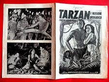TARZAN & HIS MATE 1950's JOHNNY WEISSMULLER MAUREEN O'SULLIVA EXYU MOVIE PROGRAM