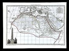 1812 Malte Brun Lapie Map Ancient Africa Cyrene Lybia Egypt Carthage Mauritania
