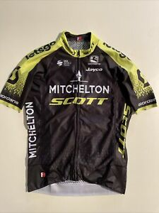 Mitchelton Scott 2010 Cycling Team Rider Issue Race Short Sleeve Jersey Small