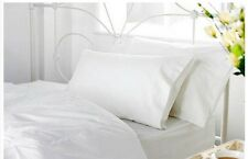 2 x Superking Size Duvet Bed Covers Rich Cotton Blend & Pillowcases Hotel Grade