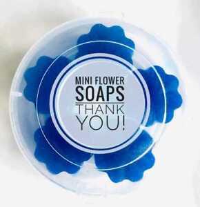 Mini flower soaps/Lavender fragrance/Handmade/Guest soaps
