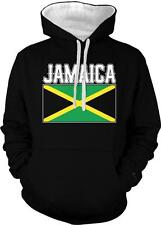 Jamaica Text Flag Jamaican Pride Rasta Kingston 2-tone Hoodie Pullover