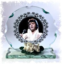 Elvis Presley, Cut Glass Round Plaque, Tribute Limited  Edition #1