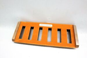 Orange 1960s Vintage Caravelle Bulova Watch Display Presentation Case *Empty USA