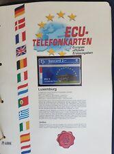 ECU - Telefonkarte Luxemburg