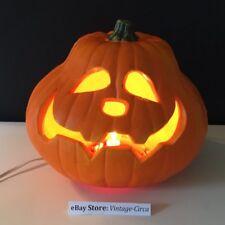 VINTAGE GEMMY HALLOWEEN FOAM Mold Jack O Lantern Light Pumpkin *RARE*
