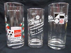 Coca-Cola German Olympic Glass Set of 3