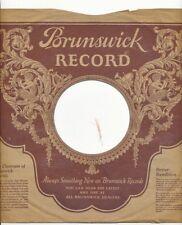 78 RPM Company logo sleeves-PRE-WAR-BRUNSWICK