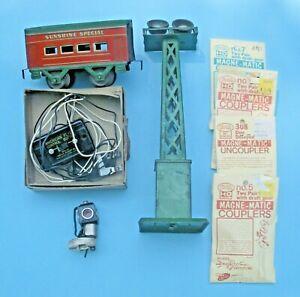 Lot of  8 Various O, HO, & S Ga. Train Items-Marx, American Flyer, Hafner, Kadee