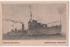 Spain, Armada Espanola, Destructor Gravina Spanish Navy Postcard, B667