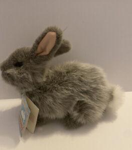 "APPLAUSE Gershwin Remarkable Rabbits 11"" Plush Tags Rabbit 1989 Grey Chinchilla"