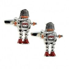Rétro Robby Robot Nouveauté Boutons Manchette 50s Sci Fi Mariage Noël de Cadeau
