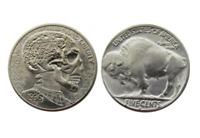 Hobo Nickel Human Skull Skeleton Cosmic Star American US Nickle Coin