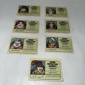 Vintage 1979 Stop Thief Cops & Robbers Board Game Lot of 8 Detective Licenses