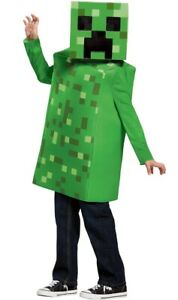 Minecraft Creeper Kids Officially Licensed Disguise Costume - New
