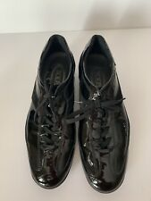 Tod's Women's Black Suede and Patent Leather Sneakers Size 39 Pre-Owned