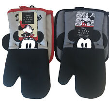 Disney Mickey and Minnie Oven Mitt And Pot Holder New Black & Grey Red
