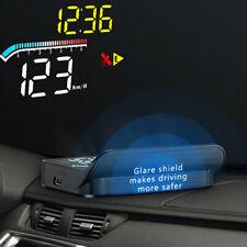 Car HUD Head Up Display OBD2 GPS Speedometer Warning System Dashboard Projector