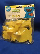 Vintage Wilton Sesame Street Cookie Cutters 1987 New In Package Big Bird