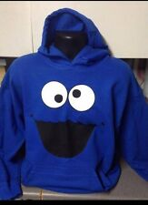COOKIE MONSTER HOODED TOP HOODIE HOODY SEASAME STREET HOODIE UNISEX ALL SIZES