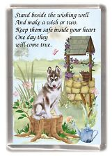 "Siberian Husky Dog Large Fridge Magnet (60 x 90mm) ""WISHING WELL POEM"""