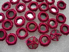 CR26-26 Gypsy Crochet Shisha Mirrors Applique Maroon Dancewear/Craft 30pcs