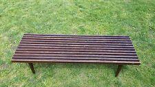 Vintage Mid Century Modern Danish Slat Table Bench George Nelson Era