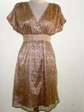 Amar DRESS Aussie COUTURE charmeuse SILK FINE DELICATE CROCHET etherial fairys/m