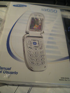 Verizon Samsung a650 Manual + CD for flip phone