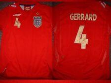 Inghilterra gerrard Camicia XL BOY GIRL gioventù Umbro Football Calcio Jersey Liverpool ~