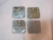 1949 - 1950 Vintage Trap Tags Old Trapping Hunting Wi 4 Tags T*