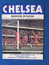 Chelsea v Moscow Dynamo - 15/11/78 - Friendly Programme