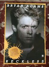 Bryan Adams Reckless rare original promotional poster from 1984