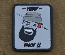 "PVC / Rubber Patch ""Head Shot!!"" with VELCRO® brand hook"