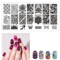 Nail Stamping Plates Nail Art Image Stencils Template Manicure New Bron Prettry
